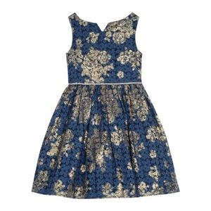 Belle Bagley Mischka navy blue dress